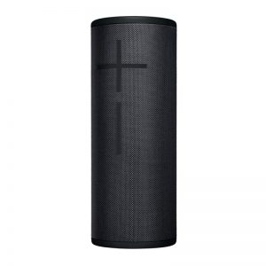 Ultimate Ears MEGABOOM 3 Waterproof Bluetooth Wireless Speaker In Night Black On White Background