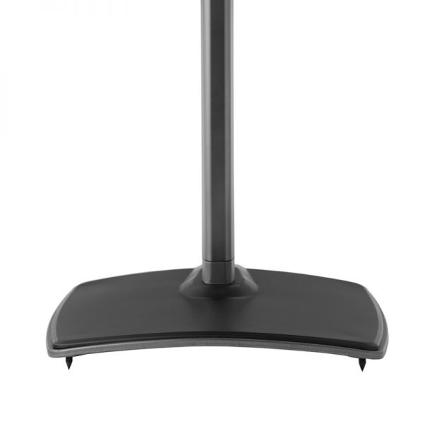 SANUS WSS51 Wireless Speaker Stand Designed For Sonos In Black Foot Plate With Spikes On White Background