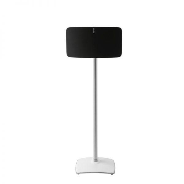 SANUS WSS51 Wireless Speaker Stand Designed For Sonos In White On White Background