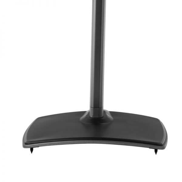 SANUS WSSA1 Adjustable Speaker Stand Designed For Sonos In Black Foot Plate With Spikes On White Background