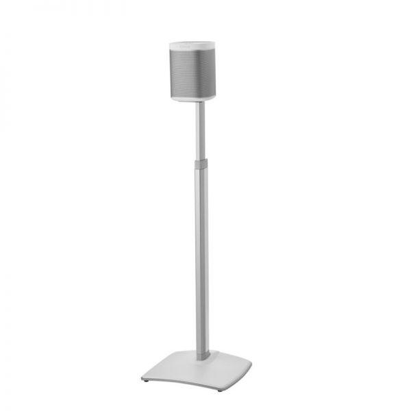 SANUS WSSA2 Adjustable Speaker Stands Designed For Sonos In White On White Background