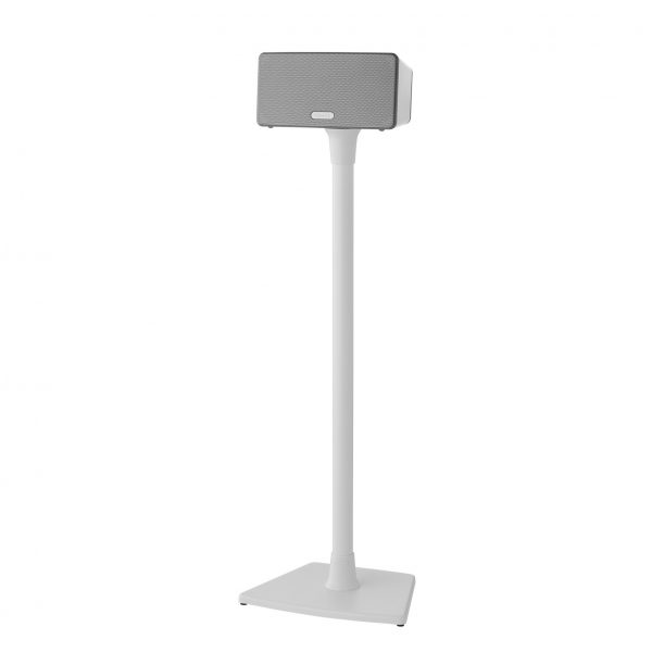 SANUS WSS21 Wireless Speaker Stand Designed For Sonos In White On White Background