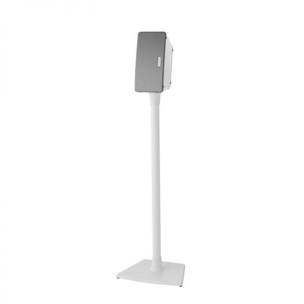 SANUS WSS22 Wireless Speaker Stand Designed For Sonos In White On White Background