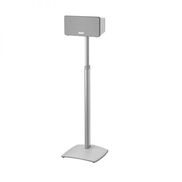 SANUS WSSA1 Adjustable Speaker Stand Designed For Sonos In White On White Background