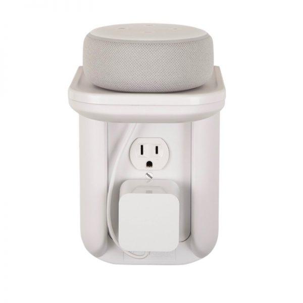 SANUS WSOS1 Outlet Shelf In White On White Background