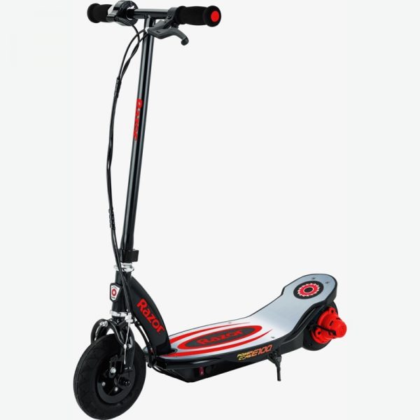 Razor Power Core E100 With Aluminum Deck Red On White Background