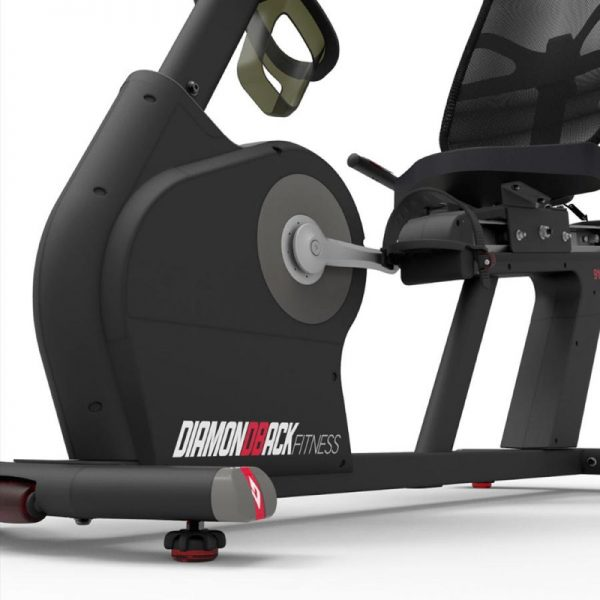 910Sr Diamondback Fitness Recumbent Magnetic Exercise Bike Front Detail On White Background