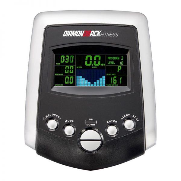 1060Ef Diamondback Fitness Adjustable Stride Elliptical Trainer Adjustment Console On White Background