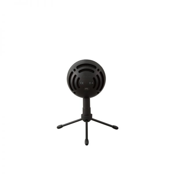 Blue Snowball iCE USB Microphone In Black Back On White Background