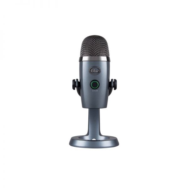 Blue Yeti Nano Premium USB Microphone In Shadow Grey Front On White Background