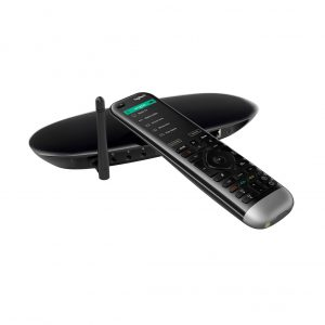 Logitech Harmony Pro 2400 Universal Remote Control With Hub On White Background