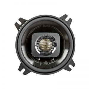 "Polk DB+ Series 4"" Coaxial Speaker Black On White Background"