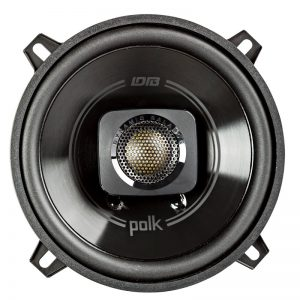 Polk BD522 Car Speaker In Black On White Background