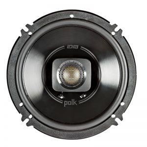 Polk DB652 Car Speaker In Black On White Background