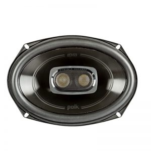 Polk DB692 Car Speaker In Black On White Background
