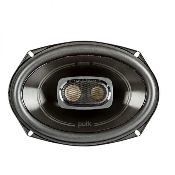 Polk DB692 Car Speaker In Black On White Background