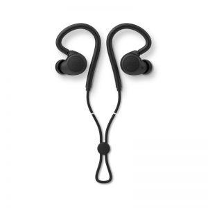 JAYS m-Six In Ear Headphones In Black On White Background