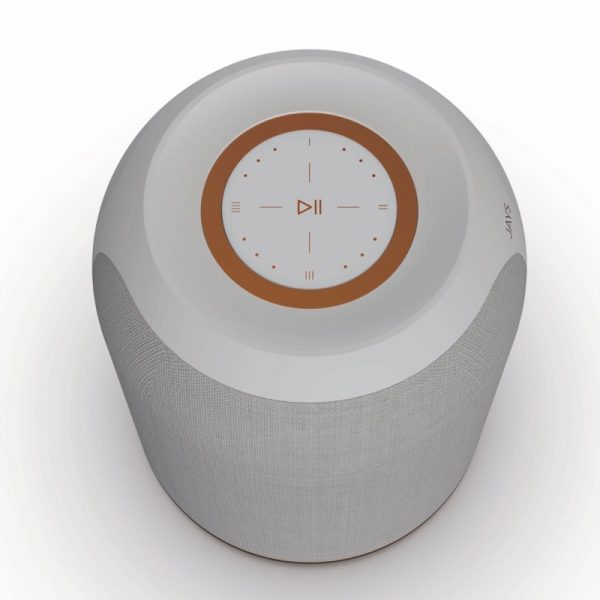 JAYS s-Living One Top Of Speaker In Concrete White On White Background