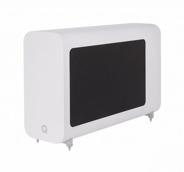 Q Acoustics 3060S Subwoofer In Arctic White On White Background
