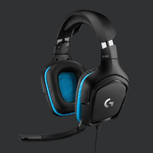 Logitech G432 7.1 Surround Sound Wired Gaming Headset Photograph