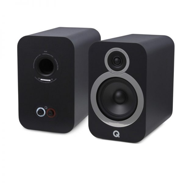 Q Acoustics 3030i Stereo Bookshelf Speakers Pair In Carbon Black Photograph