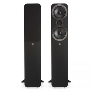 Q Acoustics 3050i Stereo Speakers Pair In Black Carbon