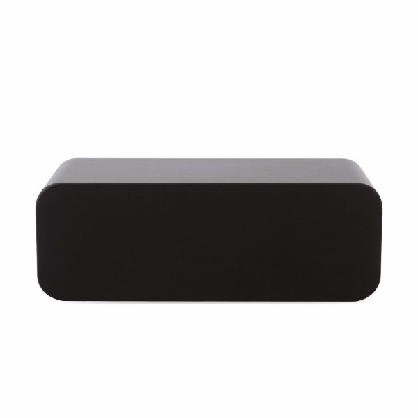 Q Acoustics 3090Ci Stereo Center Speaker In Graphite Grey With Grill On White Background