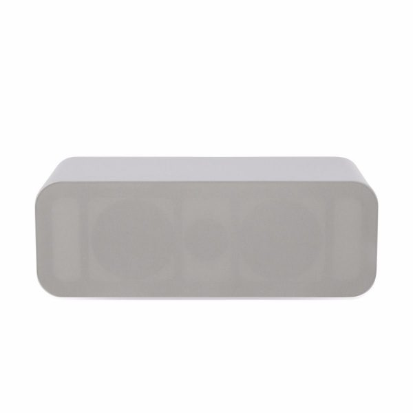 Q Acoustics 3090Ci Stereo Center Speaker In Arctic White With Grill On White Background