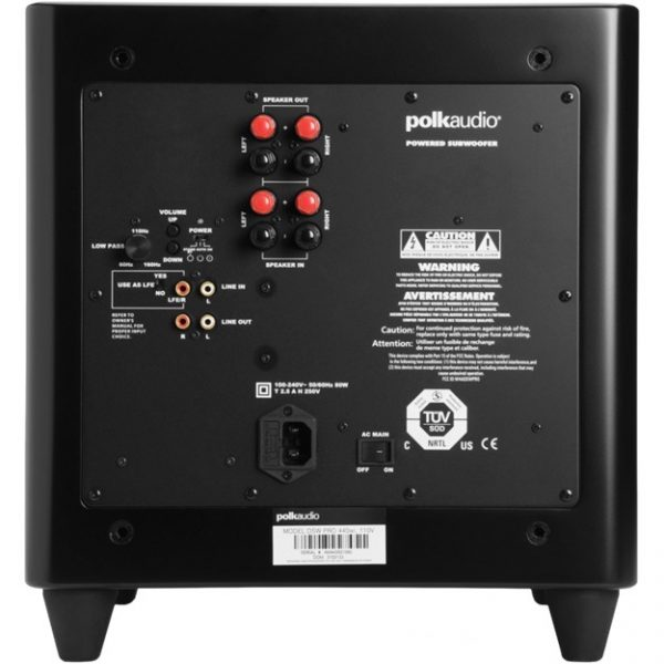 Polk Audio DSW PRO 440 In Black Back Photograph