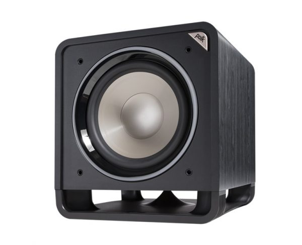 Polk Audio HTS 12 Subwoofer In Black Walnut Without Grille Photograph