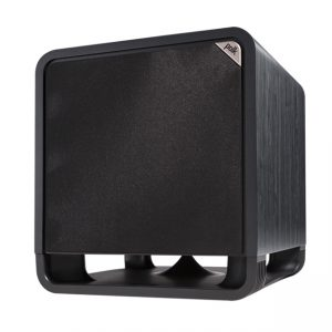 Polk Audio HTS 12 Subwoofer In Black Walnut With Grille Photograph
