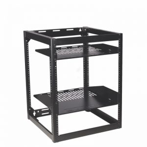 SANUS CFR1620 Component Skeleton AV Rack In Black Photograph