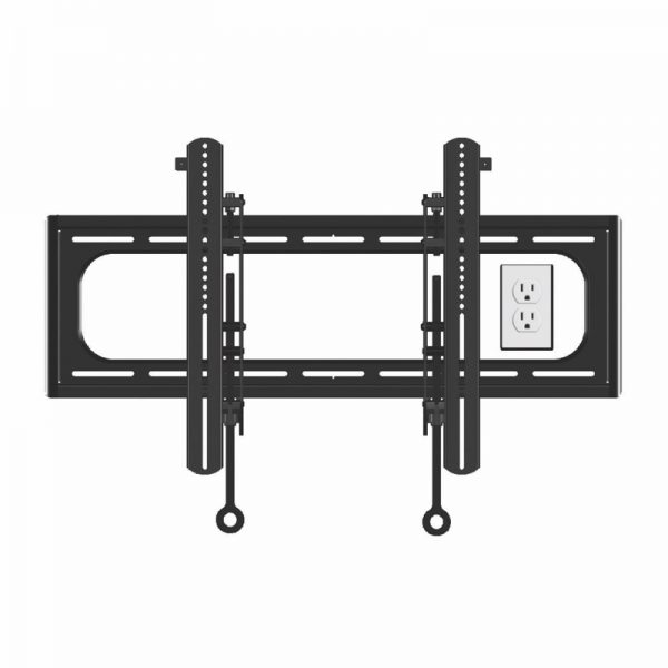 SANUS BLACK CILL1 Fixed Position Mount Showing Electrical Outlet Photograph