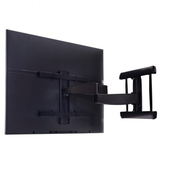SANUS BLACK CILF230 Full Motion Premium Mount Extended Arms With TV Attached Photograph