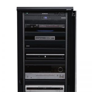 SANUS CFR2136 Component Foundation Rack In Black Photograph