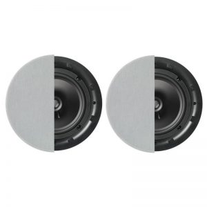 "Q Acoustics 8"" Round In-Ceiling Speaker Pair With Grille Photograph"