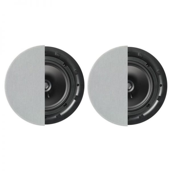 """Q Acoustics 8"""" Round In-Ceiling Speaker Pair With Grille Photograph"""