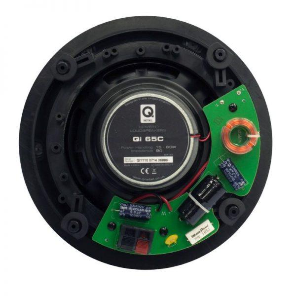 "Q Acoustics 6.5"" Round In-Ceiling Speaker Pair Rear Photograph"