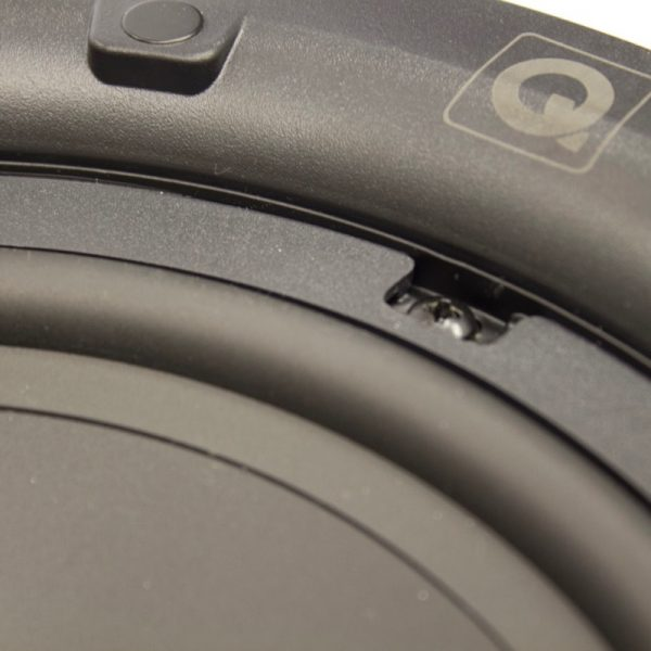 "Q Acoustics 8"" Round In-Ceiling Speaker Pair Rear Close Up Photograph"