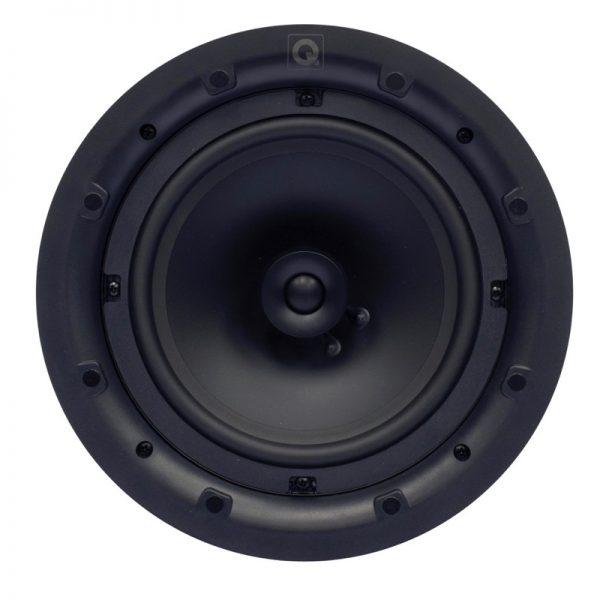"Q Acoustics 8"" Round In-Ceiling Speaker Pair Front Photograph"