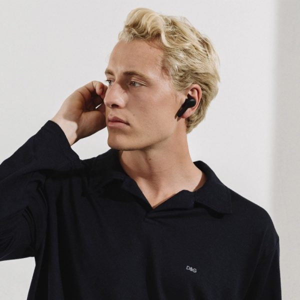 JAYS f- Five True Wireless Earphones Lifestyle Worn By Man Photograph