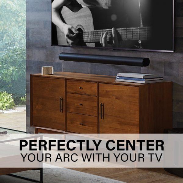 SANUS WSSAWM1 Extendable Soundbar Wall Mount Designed For Sonos Arc Soundbar Lifestyle Centre With TV
