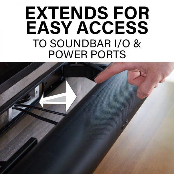 SANUS WSSAWM1 Extendable Soundbar Wall Mount Designed For Sonos Arc Soundbar Lifestyle Extends For Easy Access