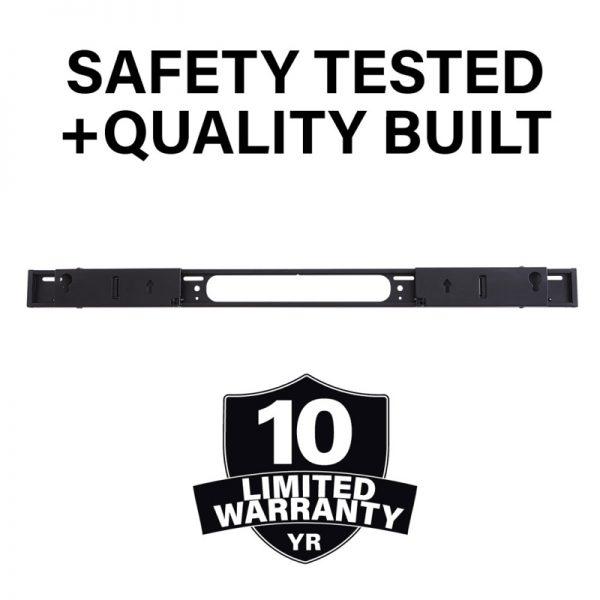 SANUS WSSAWM1 Extendable Soundbar Wall Mount Designed For Sonos Arc Soundbar Safety Built & Tested Diagram
