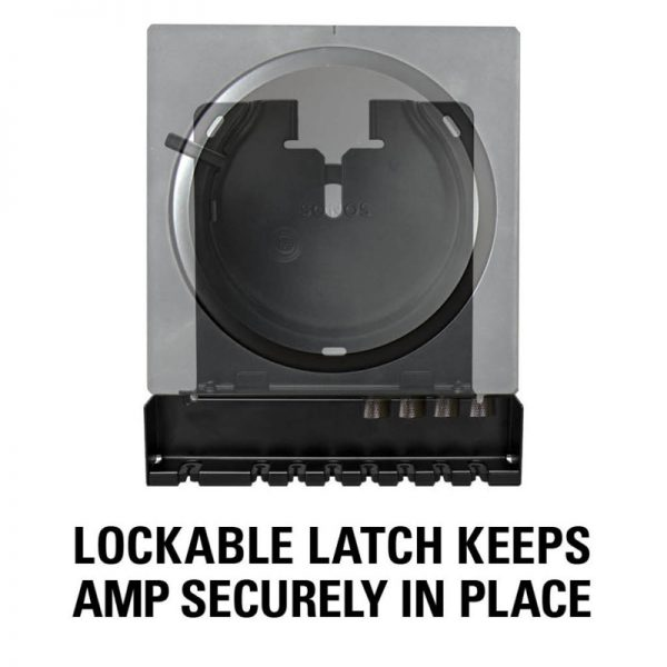 SANUS WSSCAM1 Slim Wall Mount Designed For Sonos Amp Lock On White Background