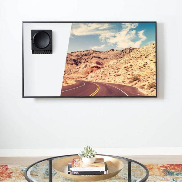 SANUS WSSCAM1 Slim Wall Mount Designed For Sonos Amp Mounted Behind TV Lifestyle