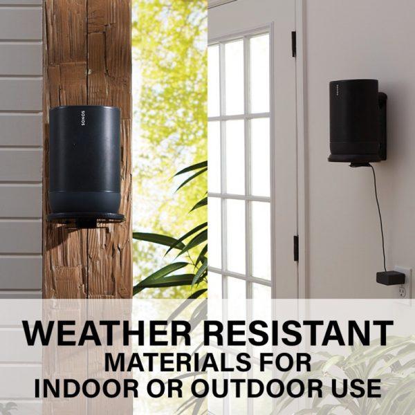 SANUS WSSMM1 Indoor & Outdoor Mount Designed For Sonos Move Speaker Water Resistant Photograph