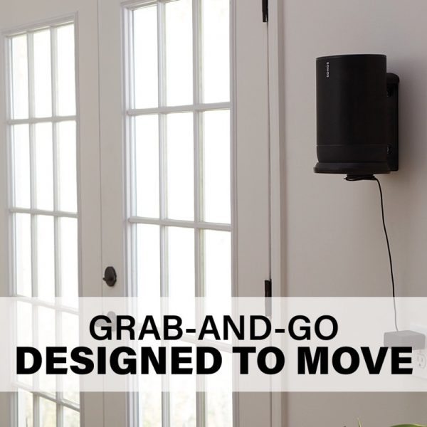 SANUS WSSMM1 Indoor & Outdoor Mount Designed For Sonos Move Speaker Grab And Go Photograph
