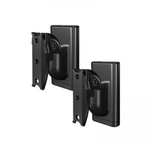 SANUS WSWMU2 Universal Speaker Wall Mounts Black On White Background