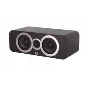 Q Acoustics 3090Ci Stereo Center Speaker In Carbon Black On White Background